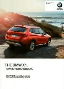 BMW X1 Owners Manual / Drivers Handbook, edition 2015