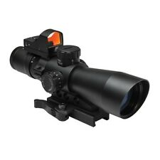 NCStar Ultimate Sighting System GEN II Mil Dot 3-9x42 Scope w Micro Red Dot