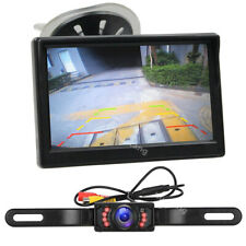 "5"" LCD Monitor Car Backup Camera Waterproof Night Vision Reverse Parking System"