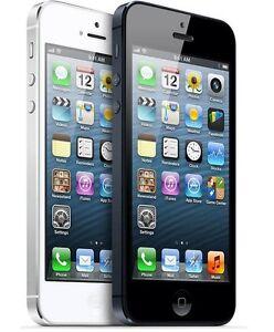 Apple iPhone 5-16GB 32G 64GB(Factory Unlocked)GSM  Black-Whit Phone*   Very Good