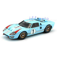 SHELBY COLLECTIBLES 1966 FORD GT 40 MK II #1 LIGHT BLUE MILES - HULME 1/18 SC411