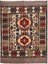 2502 # Handmade Afghan Tribal Barjasta 100% Wool Area Kelim Rug 174 x 129 cm