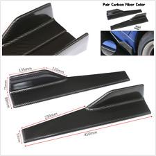 1 Pair Car Side Anti-scratch Skirt Rocker Splitters Diffuser Carbon Fiber Color