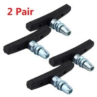 2 Pair Mountain Bike Cycling V Brake Holder Pads Rubber Durable Performance US