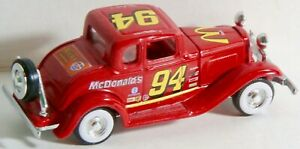 RACING CHAMPIONS #94 MCDONALD'S RED '32 FORD COUPE WITH REMOVABLE HOOD