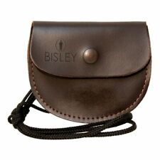 Bisley Leather airgun pellet pouch with lanyard - rifle pellets holder