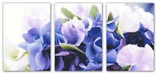 """Romantic purple"" Triptych  counted cross stitch kits"