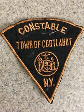 New York Town Of Cortlanot Police Patch