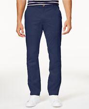 $200 CLUB ROOM mens BLUE CHINOS STRAIGHT FIT CASUAL DENIM LEG PANTS 33 W 32 L