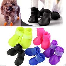 4Pcs Dog Cat Rain Protective Boots Waterproof Puppy Pet Shoes Boots Anti-Slip