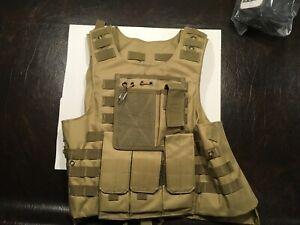 Tactical Vest Military Adjustable Combat Assault Multiple Pockets