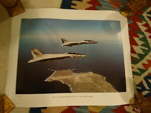 """F 14A Tomcat Over San Clemente Island Poster 16"""" x 20"""" Print"""