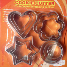Hot 12X Star Heart Flower Round Shape Cookie Cutter Cake Biscuit Fruit Egg Mold