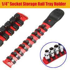 "1/4"" Socket Rack Storage Divider Rail Tray Holder + 9 Clips Shelf Organizer"