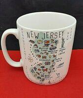 Vintage 222 Fifth My Place Jumbo NJ Coffee Mug Cup 28oz ceramic New Jersey RARE!