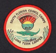 BSA boy scout patch South Florida Council Camps, long term camper