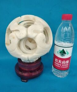 Magical 8 Layers Sphere Magic Puzzle Ball Overlap interlink Mascot Of White Jade