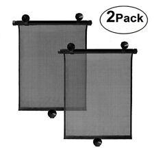 2PC Car Retractable Window Curtain Windshield Sun Shade Windscreen Visor Cover