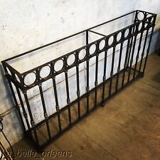 STUNNING LATE 19THc WROUGHT IRON WALL CONSOLE TABLE. 6FT LONG. MUST SEE !L@@k!!!