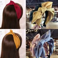 Women Bow Knot Cross Wide Headband Alice Head Band Headwear Hair Accessories
