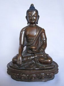 A copper BUDDHA traditional statue hand made carving collectible