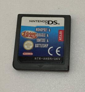 Monopoly Boggle Yahtzee Battleship Nintendo DS Game Cartridge