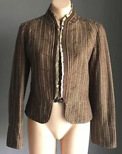 Gorgeous Bohemian MARTINI Brown & Pink Tweed Fitted Jacket/Blazer Size 14