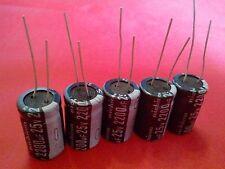 5PCS 2200UF 2200mfd 25V Electrolytic Capacitor 105 degrees USA FREE SHIPPING