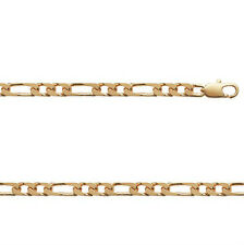 Bracelet HOMME GOURMETTE FIGARO 1-2 en plaqué OR 18cm NEUF BijouterieJOLYBIJOUX