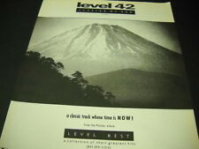 LEVEL 42 ...a classic track whose time is NOW 1990 Promo Poster Ad mint cond