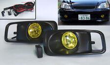 Yellow Amber JDM Front Fog Lights for Honda Civic 99-00 2/3/4dr