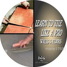LEARN TO TILE 4 BEGINNERS EASY STEP BY STEP TILING GUIDE WALL & FLOOR TILES DVD