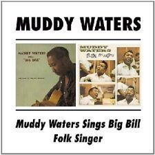 Muddy Waters Sings Big Bill/Folk Singer 2on1 CD NEW SEALED Blues