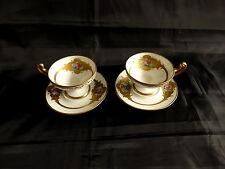2 tasses et sous tasses de style empire en porcelaine