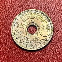 #3662 - RARE - 25 centimes .1939. FDC sortie de rouleau - FACTURE