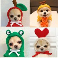 Fruit Pets Dog Sweaters with Hat Warm Soft Teddy Puppy Autumn Winter Clothing