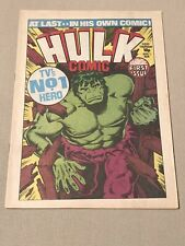 MARVEL HULK #1 UK COMIC 1979