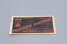 Chromotransfert décalcomanie Cuivrerie Sourdine Villedieu Poêle cuivre 50/60