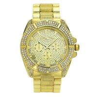 Gold/Platinum Hip Hop Watches Iced Bling Out Chunky Wristwatch