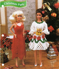 """Christmas Party""~Crochet Pattern Instructions Only fits Barbie Fashion Doll~New"