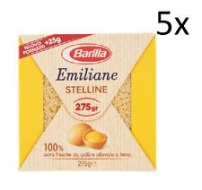 5x Barilla Emiliane Stelline all'uovo n. 108 Nudeln mit ei 275g