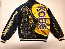Kobe Bryant JH Design Official NBA Cotton Twill Jacket  Black/Gold  Size S RARE