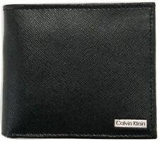 CALVIN KLEIN CK MEN'S LEATHER BIFOLD WITH COAIN CASE WALLET BLACK 79393 NEW
