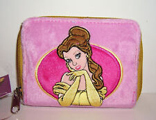 Disney Princess BELLE  BEAUTY & THE BEAST Embroidered ZIPPERED WALLET COIN PURSE