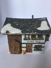 """Dept 56 Alpine Village """"Milck Kase"""" Handpainted Porcelain 1996"""