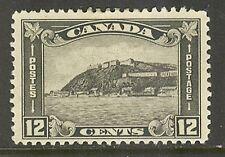 Canada #174, 1930 12c Quebec Citadel, Unused Hinge Remnant