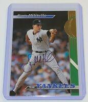 1993 Topps Stadium Club Teams New York Yankees Sam Militello #27 MLB Auto Card