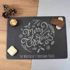 Christmas Serving Board Personalised Christmas Placemats Xmas Serving Tray, Ring