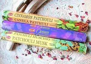 Räucherstäbchen indisch*HEM*60 St.*Patchouli Musk*Opium*Cinnamon Patchouli*Duft