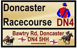 HORSE RACING ROAD SIGN (DONCASTER) - SOUVENIR NOVELTY FRIDGE MAGNET / GIFTS